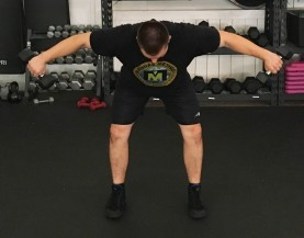 Dumbbell Bent Over Lateral Raise