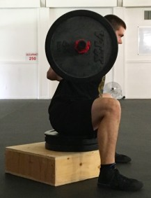 How to Box Squat Leg Strength Exercise 1
