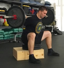 How to Box Squat Leg Strength Exercise 3