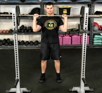 Barbell Shoulder Military Press Exercise 1