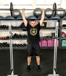 Barbell Shoulder Military Press Exercise 4
