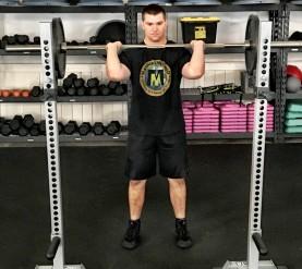 Barbell Shoulder Military Press Exercise 3