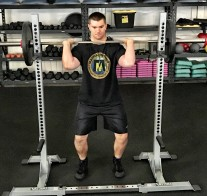 Barbell Shoulder Military Press Exercise 2