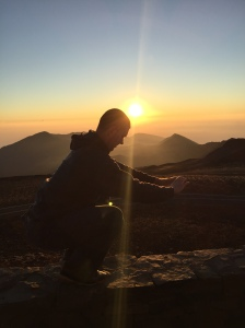 daily 30 paleo squat sunrise on mountain top