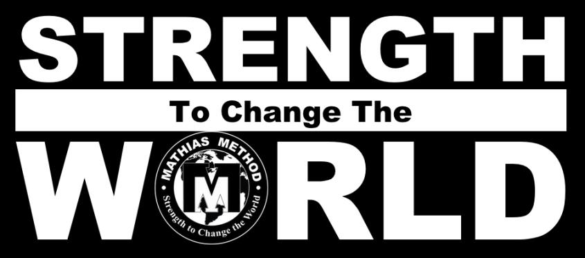 strength world white logo