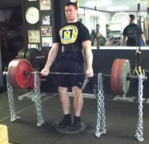 Chain Deficit Deadlift 405