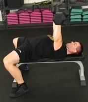 Dumbbell Press Chest Strength Exercise 4