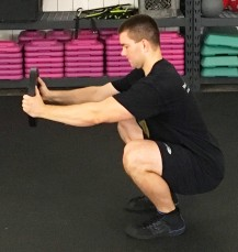 Weighted Paleo Squat Exercise