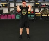 Front Squat Leg Strength Training Exercise 3