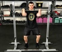 Front Squat Leg Strength Training Exercise 2