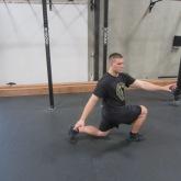 Hip Flexor Stretch Warm Up Exercise 2