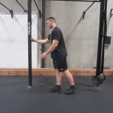 Hamstring activation squat warm up exercise 1