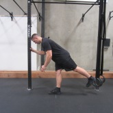 Hamstring activation squat warm up exercise 4