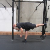 Hamstring activation squat warm up exercise 3