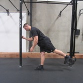 Hamstring activation squat warm up exercise 2