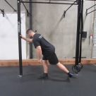 Hip activation squat warm up exercise 5