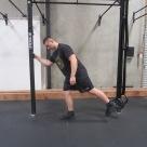 Hip activation squat warm up exercise 4