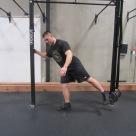 Hip activation squat warm up exercise 2