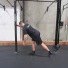 Hip activation squat warm up exercise 1
