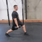 Weighted Walking Lunges Leg Exercise 5