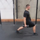 Weighted Walking Lunges Leg Exercise 3