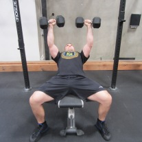 Incline Dumbbell Press Exercise 3