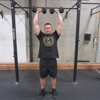 Dumbbell Overhead Press Exercise 2