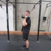 Dumbbell Overhead Press Exercise 4