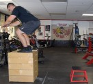 Plyometric Seated Box Jump Exercise 2