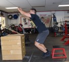 Plyometric Seated Box Jump Exercise 1