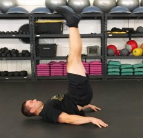 Lying Leg Raises Abs Exercise 4