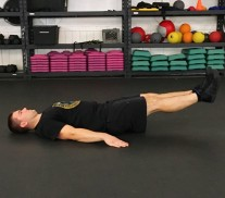 Lying Leg Raises Abs Exercise 3