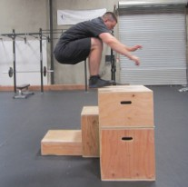 Plyometric Box Jump Exercise 8