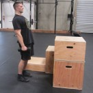 Weighted Box Jump Plyometric Exercise 6