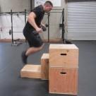 Weighted Box Jump Plyometric Exercise 3