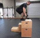 Weighted Box Jump Plyometric Exercise 2