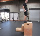 Weighted Box Jump Plyometric Exercise 1