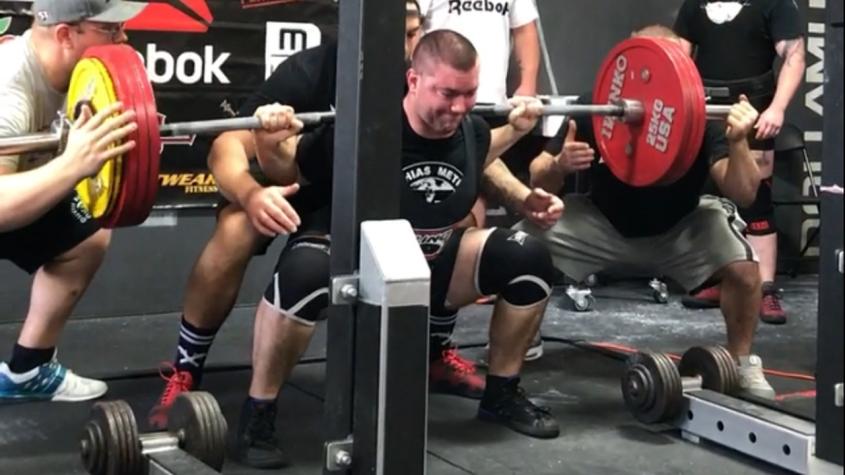 SPF powerlifting squat 500